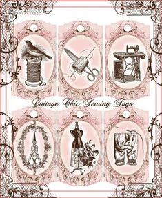 Free Decoupage Vintage Printables | Found on carterie.centerblog.net