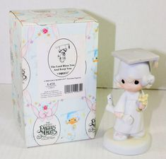 Precious Moments The Lord Bless You Girl Graduation Porcelain Figurine E-4721