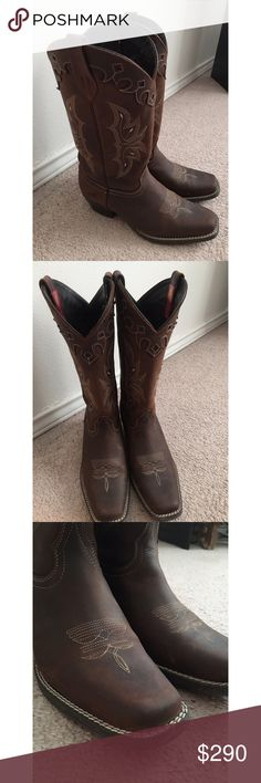 ✨ Cowboy Boots ✨ Genuine leather. Size 8. Very comfortable and go with any outfit. Worn a handful of times. Slight scuffs but add to the rustic look. Pecos Bill Shoes Winter & Rain Boots