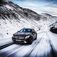 With ground clearance to get you over the lumps and bumps of winter roads, plus the stability and traction of available 4MATIC all-wheel drive to get you around them in the first place, the all-new 2015 GLA250 is in its element in the elements. See the GLA hit the slopes in this gallery, then see it at your local dealer this fall. #GLAClass #GLA250 #mercedes #benz #instacar #4MATIC (European model shown)