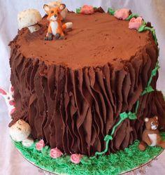 woodland creature baby shower cake!!