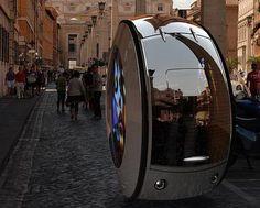 "Unusual electric car ""The Rolling Stone by designer Vitaly Kononov"""