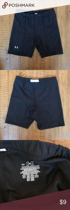 Under Armour Compression Shorts In good quality. I am a size 4-6 in jeans and they fit me well. Great for training and running. Very lightweight and soft. Feel free to bundle! Under Armour Shorts