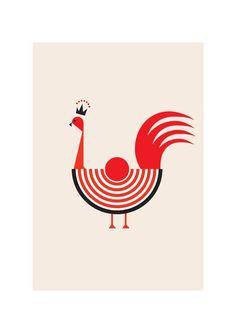 Rooster Art Print - Animal Illustration Modern Home Decor Kitchen Art Natural http://www.etsy.com/listing/108578874/rooster-art-print-animal-illustration?ref=related-1