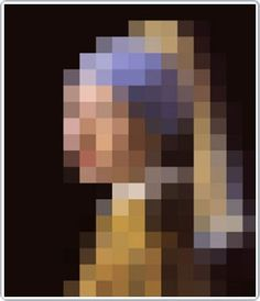 meisje van vermeer girl with the pearl earring by ixxi pixels design Girl With Pearl Earring, Design3000, Picture Arrangements, Pixel Crochet, Pixel Design, Architecture Art Design, Graffiti Artwork, Shops, Home Goods Decor