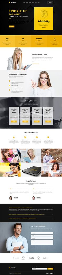 Entrepreneur Book Site #Wordpress #template. #themes #business #responsive #Wordpressthemes