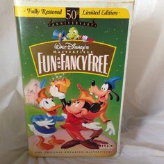 Fun and Fancy Free (VHS, 1997) 50th Anniversary Ltd. Ed. Masterpiece