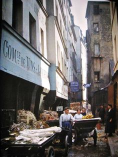 Rue du Montparnasse, Paris 1914 Autochrome photo