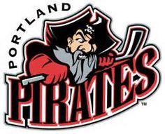 Portland Pirates Primary Logo - PORTLAND wordmark removed from side of logo Hockey Logos, Sports Team Logos, Hockey Teams, Sports Art, Syracuse Crunch, Providence Bruins, American Hockey League, Baseball Scores, Pro Baseball