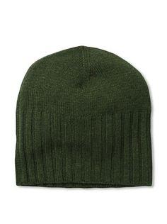 48% OFF Cashmere Addiction Men's Solid Cashmere Skull Cap, Olive