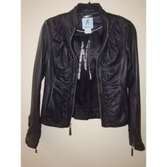 Marciano 100% Leather Jacket! 100% real leather, perfect condition-- a beautiful jacket! Marciano Jackets & Coats