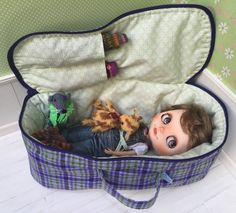 Travel Bag Sleeping Protective Doll Case Blythe Littlefee Handcrafted For Dolls Handmade 1/6 Bjd Dal Pullip Purple Flowers