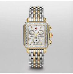 Love Michele watches and especially the two-tone band.