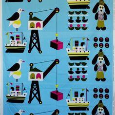 マリメッコ生地(布)LAIVAKOIRA(ライヴァコイラ・ボート犬)商品画像