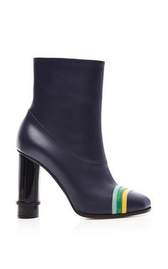 Column Ring Ankle Boot In Navy by Loewe for Preorder on Moda Operandi