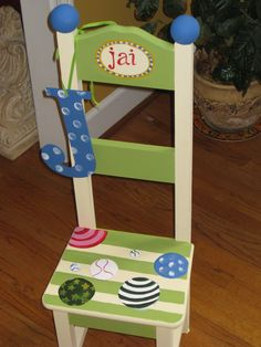 hand painted chair for little boy