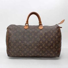 Louis Vuitton Speedy 40  Monogram Handle bags Brown Canvas M41522