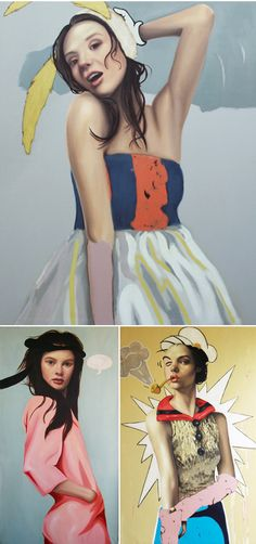 Luis Cornejo - oil and acrylic on linen. ~These images are entirely painted!