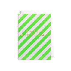 Postco Happy Birthday Embossed Card ($3.57) ❤ liked on Polyvore featuring home, home decor and stationery