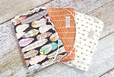 This tribal burp cloth set is perfect for that new baby girl. These bohemian burp cloths make a great baby shower gift for that new or expecting mom. This super chic and stylishly contoured chenille b