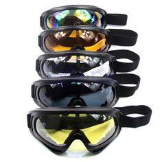 CALIENTE de La Motocicleta Ski Snowboard A Prueba de Polvo gafas de Sol Gafas de Lente Marco Gafas
