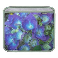 Blue Hydrangea Floral iPad Sleeve.   $41.61