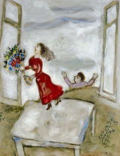1000 id es sur le th me peinture la fen tre sur for Marc chagall paris vu de ma fenetre