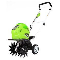 Greenworks G-MAX 10 in. Cultivator - Loosen soil and remove dirt with the Greenworks G-MAX 10 in. This battery-powered tool delivers fade-free power after charging and no memory. Lawn And Garden, Garden Tools, Garden Ideas, Power Tiller, Electric Tiller, Cordless Lawn Mower, St Pierre And Miquelon, Home Vegetable Garden, Planting Seeds