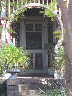 "the Entrance to ""Braeside"" a Queen Anne Style Villa -Melbourne, Australia.  Federation home."