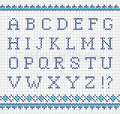english alphabet cross stitch patterns - Поиск в Google
