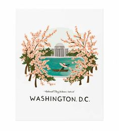 Rifle Paper Co. - Washington D.c. - Illustrated Art Print
