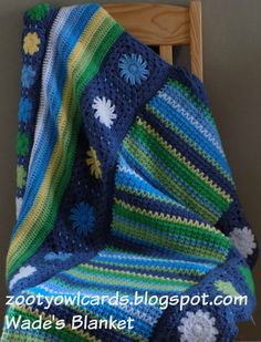 Zooty Owl's Crafty Blog: Diamond Sitch Granny Stripe: Wade's Blanket CAL (Part 7)