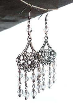 Saretta Bijoux #italian #handmade #jewelry -- Crystal #earrings, indian style / #orecchini in cristallo, stile indiano -- 18,90 €