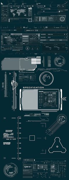 Sector 9 UI components on Behance Game Design, Graphisches Design, Design Tech, Flat Design, Gui Interface, User Interface Design, Navigation Design, Layout, Ui Components