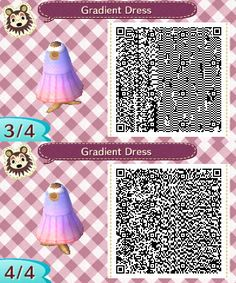 Mayor.Sydney — acnl-anaarin: Gradient Dress More patterns here.