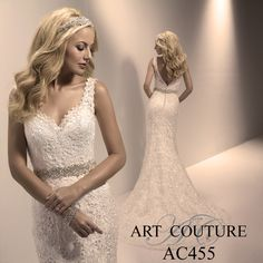 I butikk <3 ABELONE.NO <3  Lace sheath wedding dress with v neck and beautifully rich beaded belt at the waist. AC455 is available in Ivory or White. Call us or visit our facebook page to find your nearest retailer. #artcouture #eternitybridal #weddings #bigday #bridal #bridalgowns #gettingmarried #weddingfashion #weddingdress #laceweddingdress #lacedress