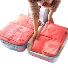 6 pc Travel Packing Cube Set