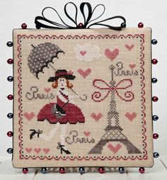 Tralala: La Parisienne From Corinne Rigaudeau - Cross Stitch Charts - Embroidery - Casa Cenina