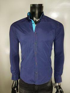 Koszula męska - - Koszule męskie - Awii, Odzież męska, Ubrania męskie, Dla mężczyzn, Sklep internetowy Denim Button Up, Button Up Shirts, Tops, Fashion, Moda, Fashion Styles, Fashion Illustrations