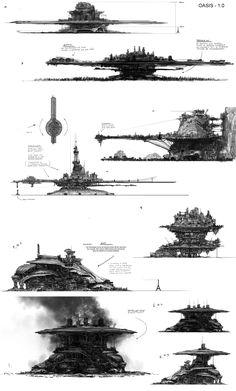 Arte Sci Fi, Sci Fi Art, Environment Concept Art, Environment Design, Fantasy Landscape, Fantasy Art, Apocalypse Art, Spaceship Art, Fantasy Places