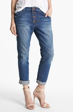 I really love and want these jeans. Joe's 'Button Up' Slouchy Ankle Jeans (Nyla) | Nordstrom