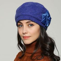 Fashion flower beret hat for women winter hats