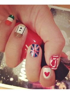 One Direction Nails :) <3