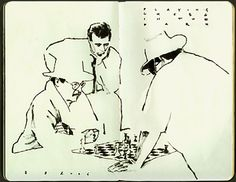 Chess Game - Alessandro Carloni, visual artist for Dreamworks. negative space line quality