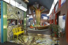 'Big Brother' House Gets New Look for Season 16 (Exclusive Photos) Big Brother Hoh, Big Brother Tv Show, Big Brother Pictures, Memory Wall, Giant Tree, Tree Sculpture, Dining Area, Family Room, New Homes