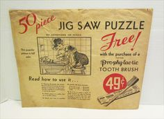 Pro Phy Lac Tic Tooth Brush Vintage Premium Jigsaw Puzzle Frances Tipton Hunter…