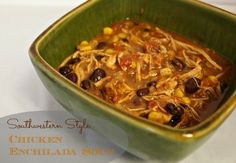 Slow Cooker Southwestern Style Chicken Enchilada Soup