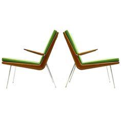 A Pair Peter Hvidt & Orla Mølgaard Nielsen Boomerang Chairs, Denmark