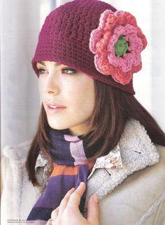 crochet hat - gorros a crochet