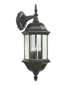 Take a look at this Bronze 3-Light Custom Fit Wall Lantern by Design Craft on #zulily today!